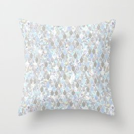 Holographic Mermaid Throw Pillow