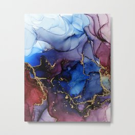 Blue Raspberry Tide | Part 2 Metal Print