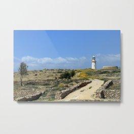 Lighthouse in Paphos Metal Print