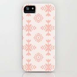 Floral Wings in Blush Peach iPhone Case