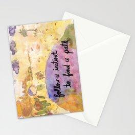 Follow u instinct to find yr path Stationery Cards