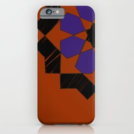 Zellige - purple and orang iPhone Case