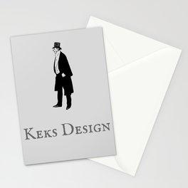 Keks Design Simple Grey Stationery Cards