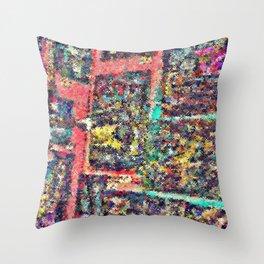 scratchy focus — queer art » strange experimental fantasy » trippy Throw Pillow