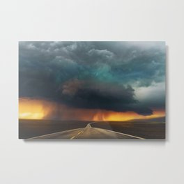 Riders on the Storm (Route 66) - The Loneliest Road in America Metal Print