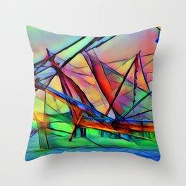 Ship Sail Throw Pillow
