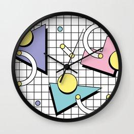 Memphis Pattern 26 - 80s - 90s Retro / Geometric Wall Clock