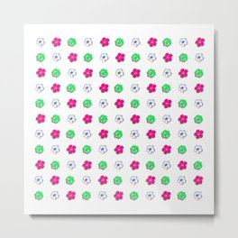 Colorful Flower Pattern Metal Print