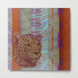 A Leopard Never Changes It's Stripes Metal Print