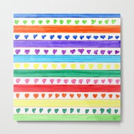 LOVE STRIPES Metal Print
