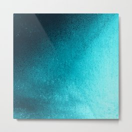 Modern abstract navy blue teal gradient Metal Print