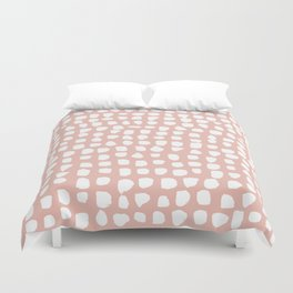 Dots / Pink Duvet Cover
