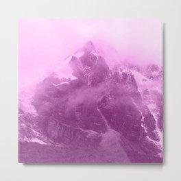 Rocky Mountain Fog Fuchsia Metal Print