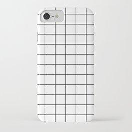 Grid Pattern Stripes Lines Black and White Minimalist Geometric Stripe Line iPhone Case