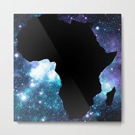 AFRICA : Teal Violet Galaxy Metal Print