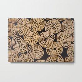 Wood planks texture Metal Print