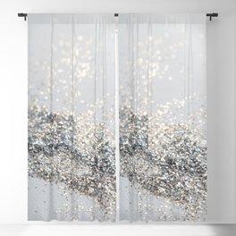 Silver Gray Glitter #2 #shiny #decor #art #society6 Blackout Curtain