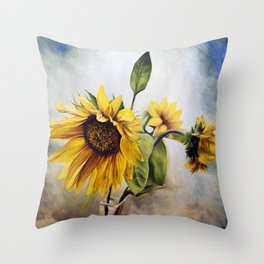 "Oil painting ""Sunflower"" Throw Pillow"