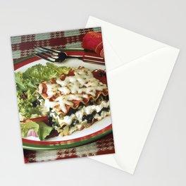 Lasagna Dinner Stationery Cards