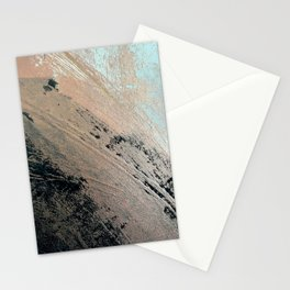 Landslide: a pretty, minimal abstract piece in pink, and blues Stationery Cards