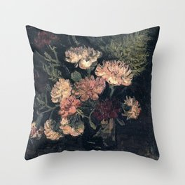 Vincent van Gogh Vase With Carnations 1886 Throw Pillow