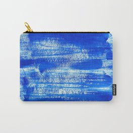 Cool & Calming Cobalt Blue Paint on White  Carry-All Pouch