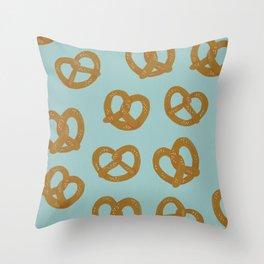 Pretzel Pattern – Mint Throw Pillow