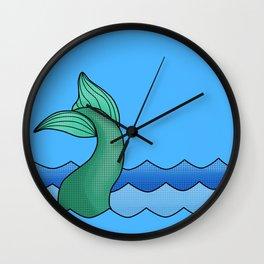 Mermaid Tail Wall Clock