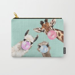 Bubble Gum Gang in Green Carry-All Pouch