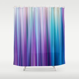 Abstract Purple and Teal Gradient Stripes Pattern Shower Curtain