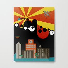 Black Blob Attack Metal Print