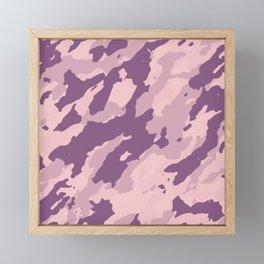 Colorful Marble Modern Light Rose Color Framed Mini Art Print