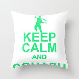 Squash Ball Sport Racket Game Player Racquet Gift Throw Pillow