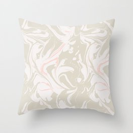Beige marble pattern Throw Pillow
