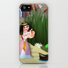 Baby Moses & the Egyptian Princess iPhone Case