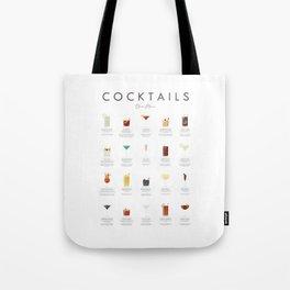 Cocktail Chart - Bar Menu Tote Bag