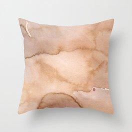 Beige effects Throw Pillow