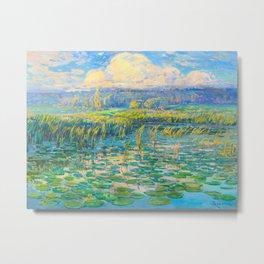Václav Radimský (1867-1946) Windy Day Impressionist Landscape Oil Painting Metal Print