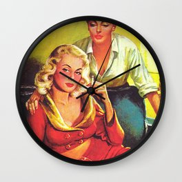 Lesbian Sex Exploitation Vintage Cover Wall Clock