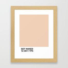 get naked Gerahmter Kunstdruck