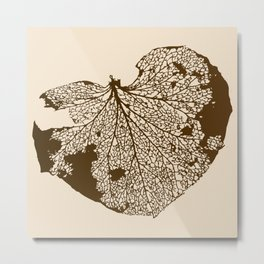 Leaf Skeleton Metal Print