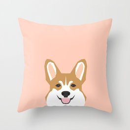 Shelby - Welsh Corgi gifts with corgi illustration for dog people and corgi owner gifts dog gifts Throw Pillow