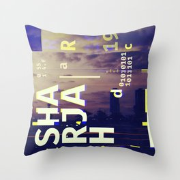 GLITCH CITY #49: Sharjah Throw Pillow