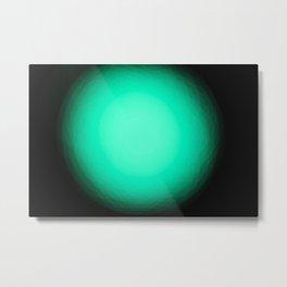 Luz verde Metal Print