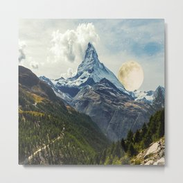 Wander trip sets the Moon Metal Print