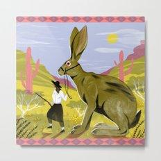 Riding Hare Metal Print