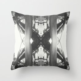 Wuppertal Suspension Railway construction Throw Pillow