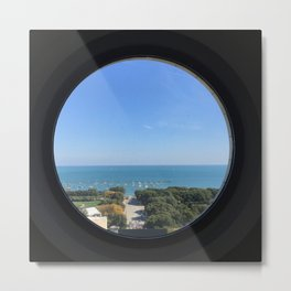 Lake Michigan View from Railway Exchange Building Original Color Photograph Home Decor Gift Icon Metal Print