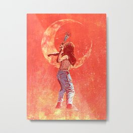 Threw the rose Metal Print