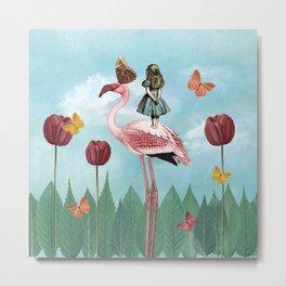 A Day in Wonderland - Wonderland Garden Metal Print